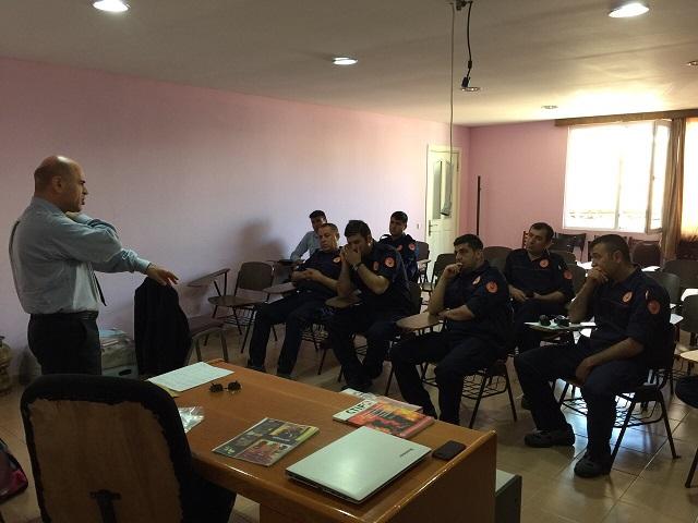 برگزاری کلاس آموزشی در آتش نشانی Mogla ترکیه